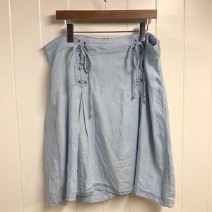 Torrid Denim Aline Lace Up skirt